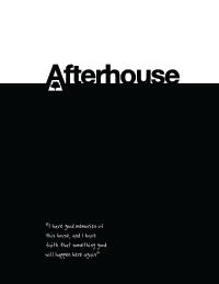 Afterhouse Report Cover