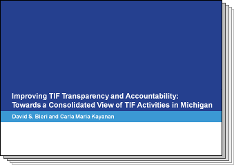 Slides from Improving TIF Transparency and Accountability