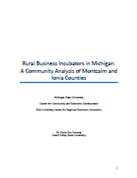 Rural Business Incubators in Michigan: A Community Analysis of Montcalm and Ionia Counties (2014) Report