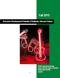 Impact Assessment of Community Arts and Cultural Programs in East Lansing (2015) Report