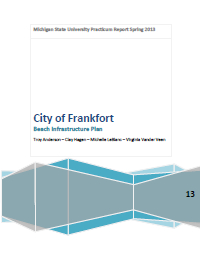 Frankfort Beach Infrastructure Plan Report Cover