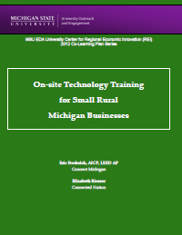 On-Site Technology Training for Small, Rural Michigan Businesses (2012) Report