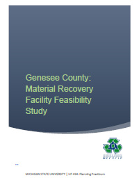 Genesee County Feasibility Study Report Cover