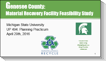 Slides from Genesee Material Recovery Feasibility