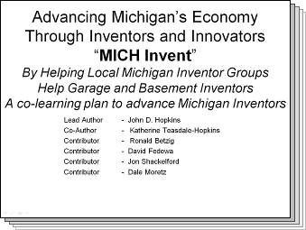 Slides from Advancing Michigan's Economy through Inventors and Innovators