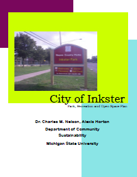 Inkster Open Space Plan Report Cover
