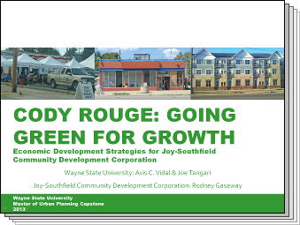 Slides from Cody Rouge: Going Green for Growth