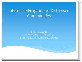 Slides from Internship Programs in Distressed Communities