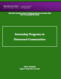 Internship Programs in Distressed Communities Report Cover