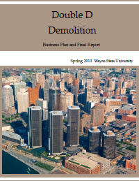 Double D Demolition Report Cover