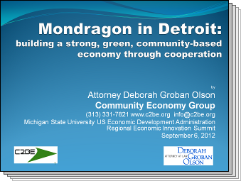 Slides from Mondragon in Detroit