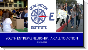 Slides from Youth Entrepreneurship: A Call to Action