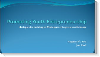 Slides from Promoting Youth Entrepreneurship