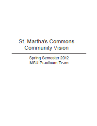 St. Martha's Commons Report Cover