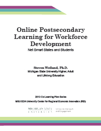 Online Postsecondary Education for Workforce Development Report Cover