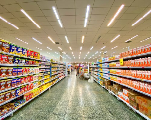 Grocery store aisle